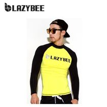 ラッシュガード ◆LAZYBEE◆Bombvely Man Rashguard - Yellow (パンツ除外)