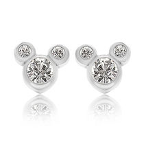 Disney★Mickey Mouse Crystal Icon Earrings ピアス- Small ★