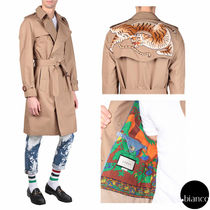 GUCCI(グッチ) トレンチコート 関税送料込GUCCI 2017SS BENGAL EMBROIDERY TRENCHCOAT 入手困難