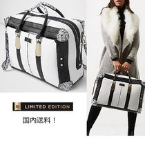 River Island(リバーアイランド) バッグ・スーツケース 限定/一押!2way White/Blackスネークプリントweekend bag国内発!