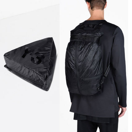 ★★ Y-3 ★★ PACKABLE BLACK BACKPACK