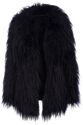 Kendall and Kylie MONGOLIAN FAUX FUR COAT black series