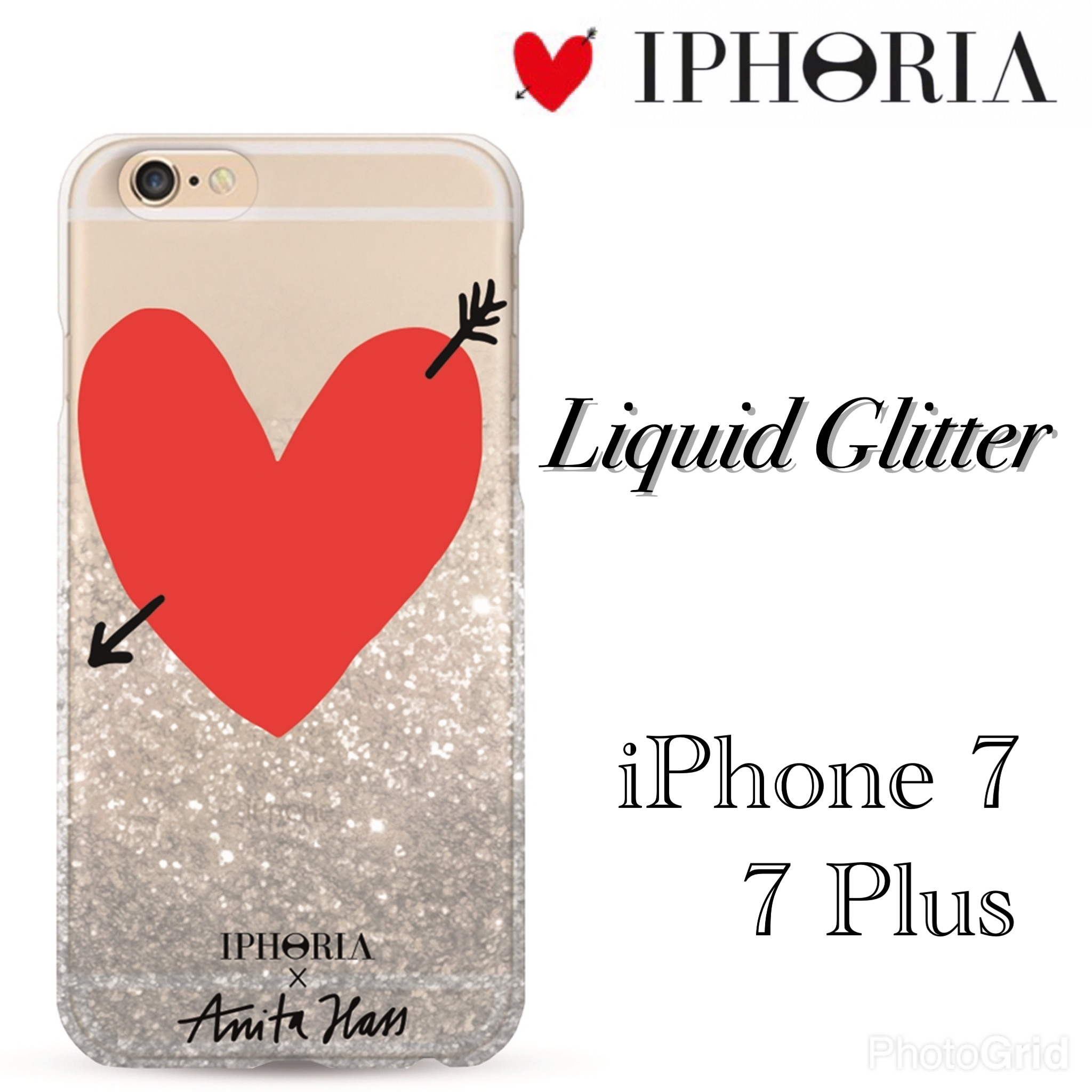 【国内発送】IPHORIA X Anita Hass Liquid Glitter★iPhone 7♪