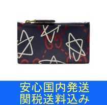 GUCCI(グッチ) コインケース・小銭入れ 国内発送関税送料込 Gucci Ghost-print leather wallet 小銭入れ