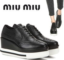 SALE♡miumiu レザーplatform Oxford shoes【関税込】