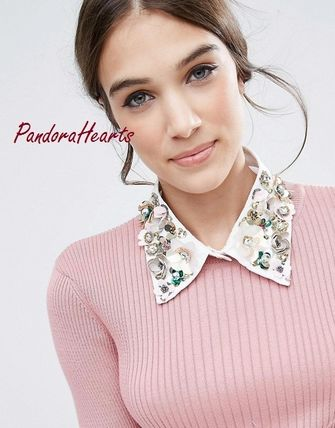 ASOS floral decoration on collars