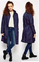【限定1・送込】 Rain Coat Spot Red & Navy (M/Lサイズ)