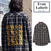 Evan Laforet◆EMBROIDERY CHECK LONG SHIRT◆UNISEX