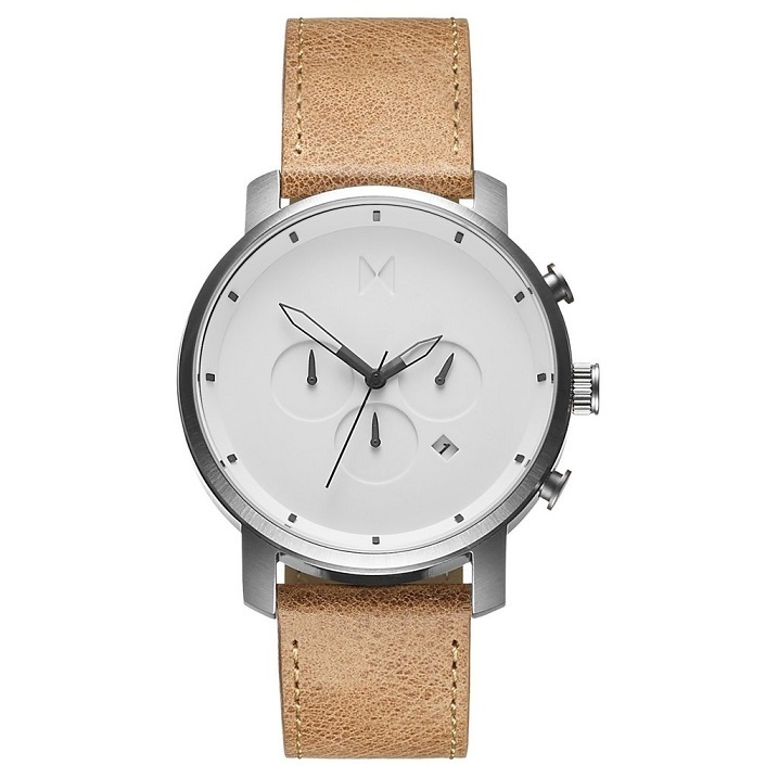 ★MVMT Watches★クロノ45mm White/Caramel Leather