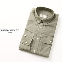 即納MAISON KITSUNEメゾンキツネFLANNEL MILITARY SHIRT