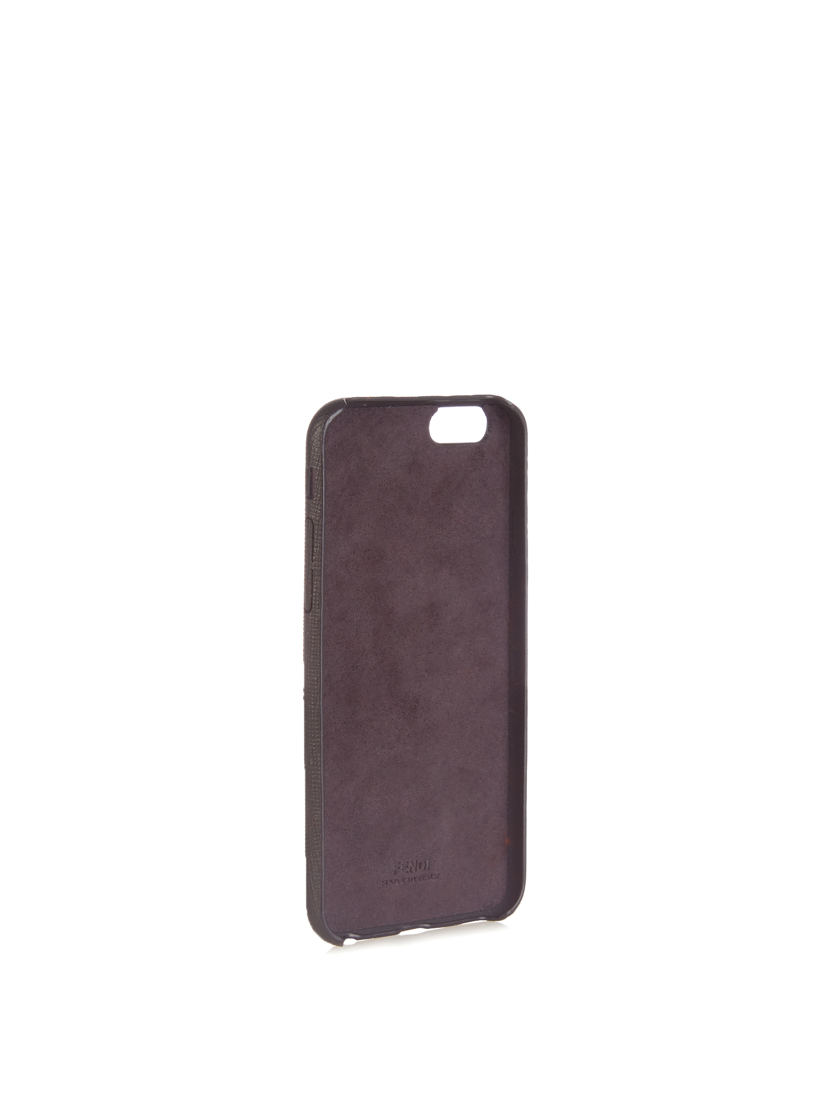 【SALE】E mink-fur and leather iPhone6 case