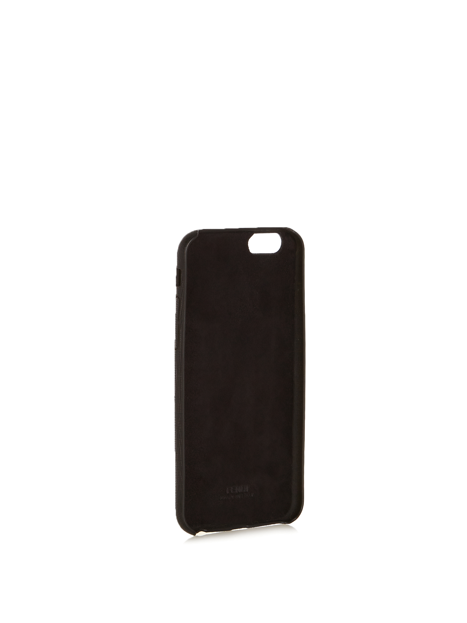 【SALE】Q mink-fur and leather iPhone6 case
