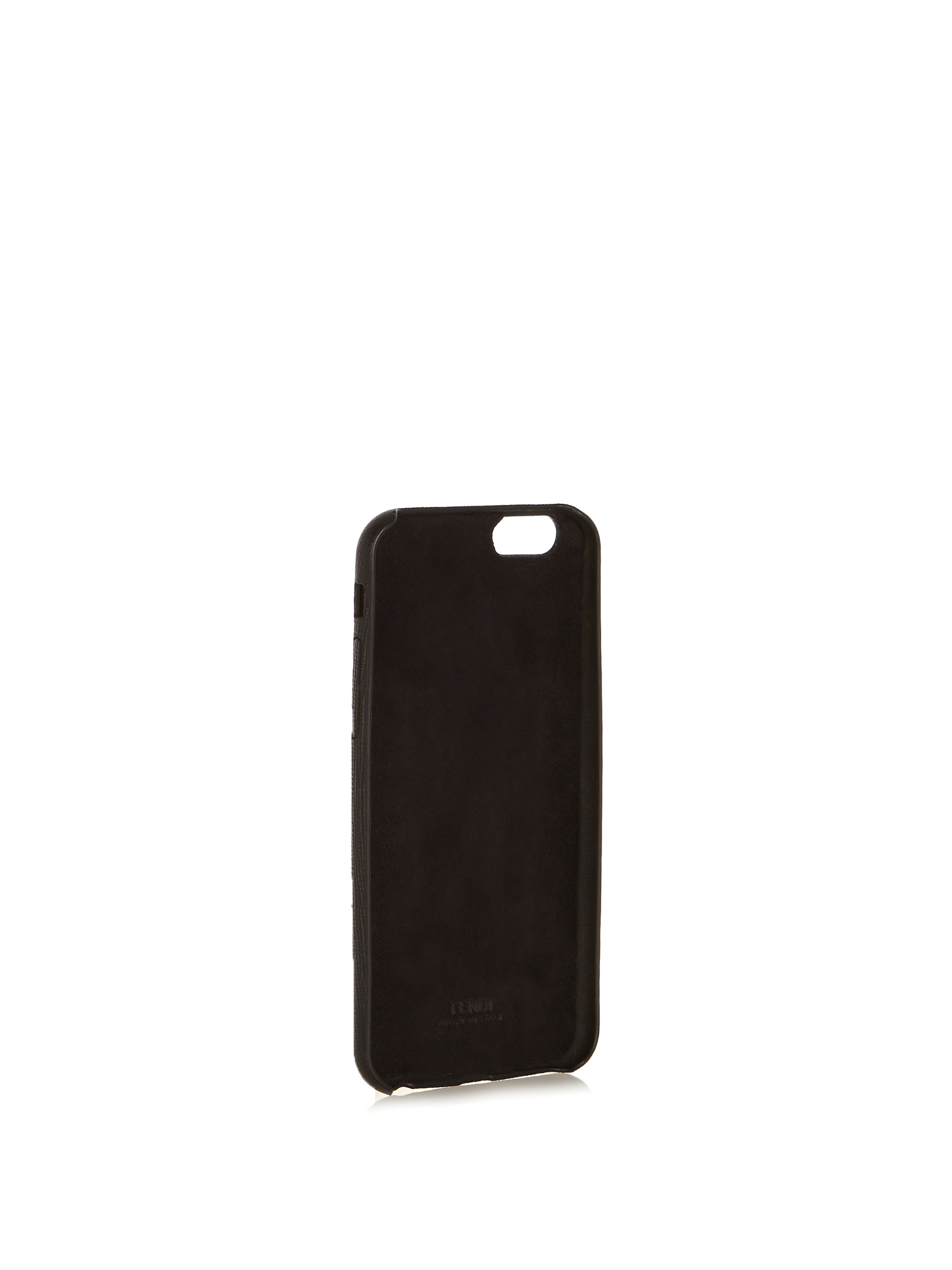 【SALE】W mink-fur and leather iPhone6 case