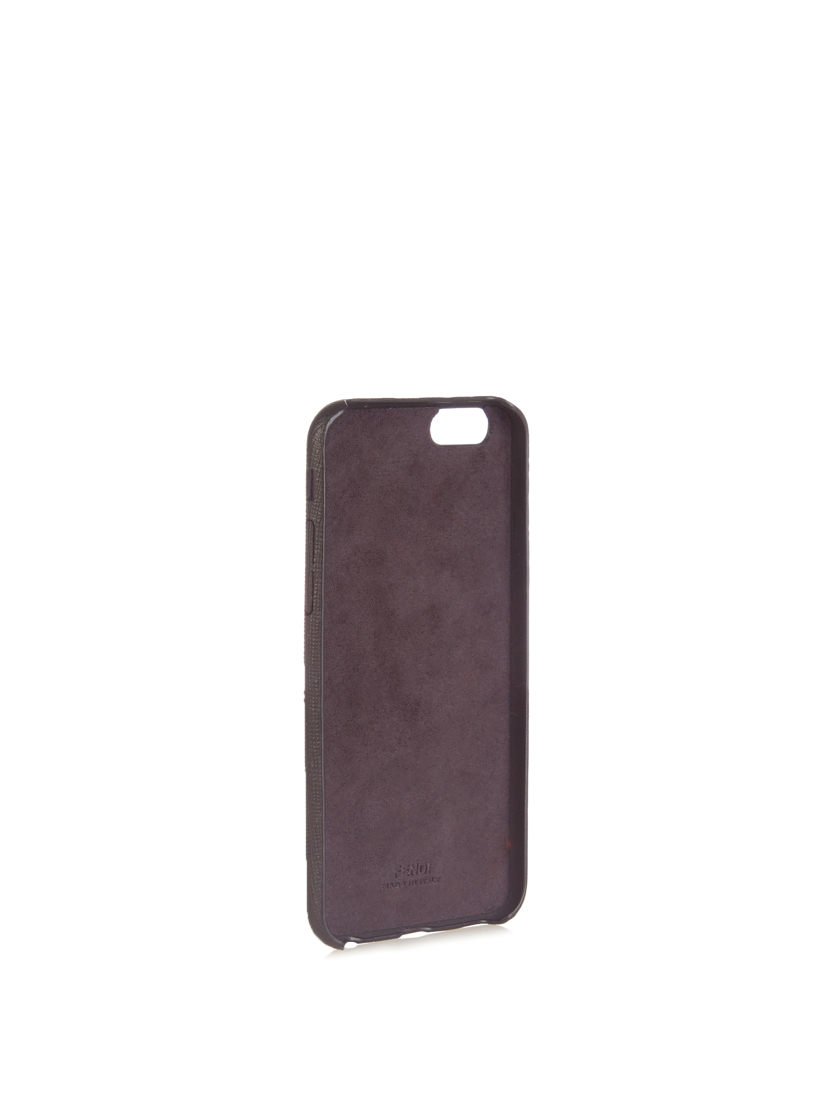 【SALE】N mink-fur and leather iPhone6 case