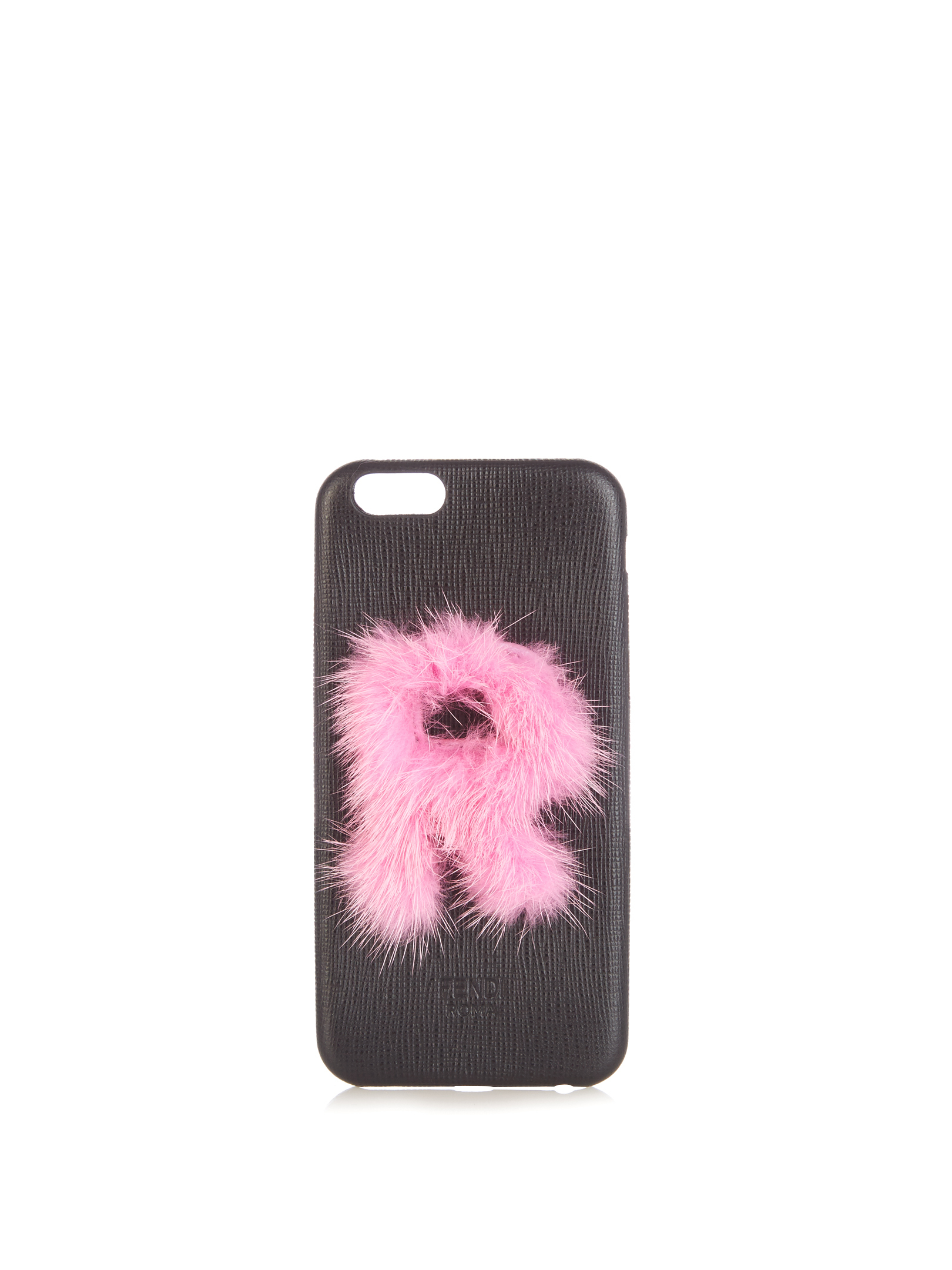 【SALE】R mink-fur and leather iPhone6 case