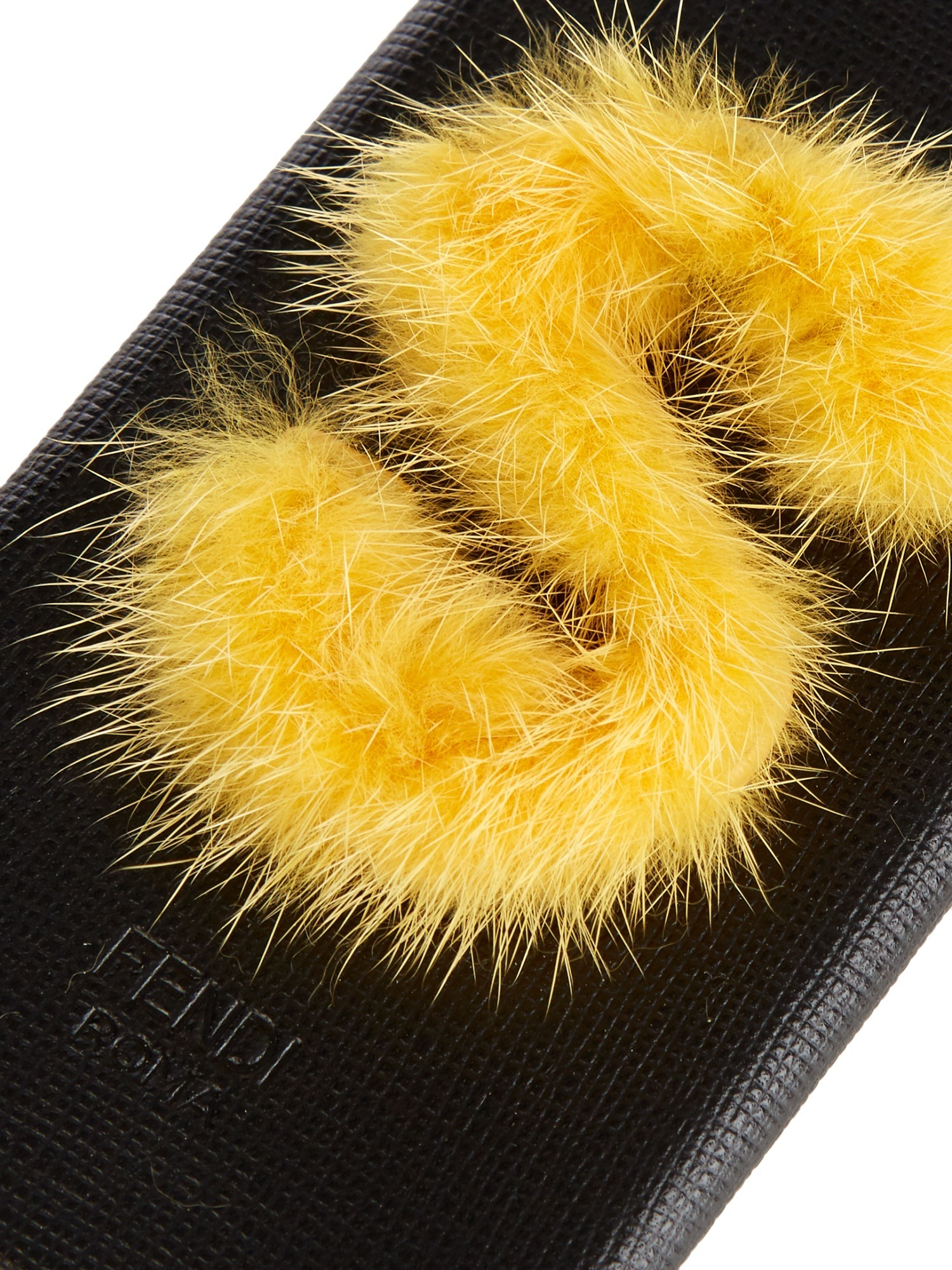 【SALE】S mink-fur and leather iPhone6 case