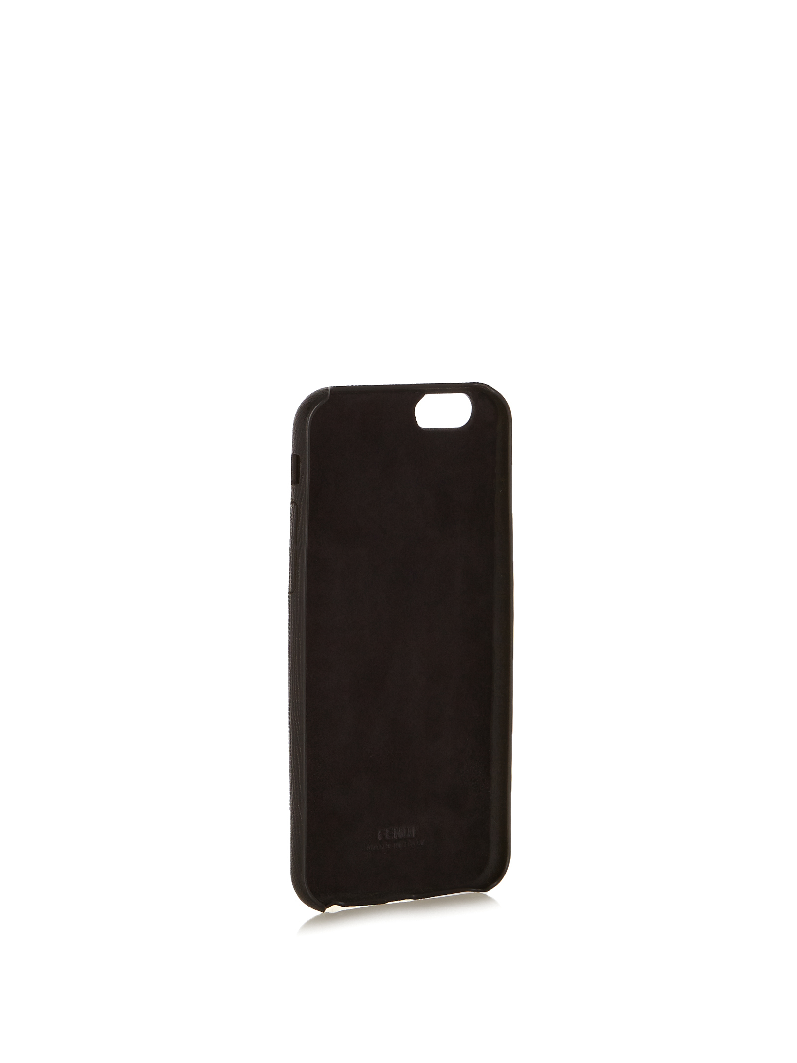 【SALE】T mink-fur and leather iPhone6 case