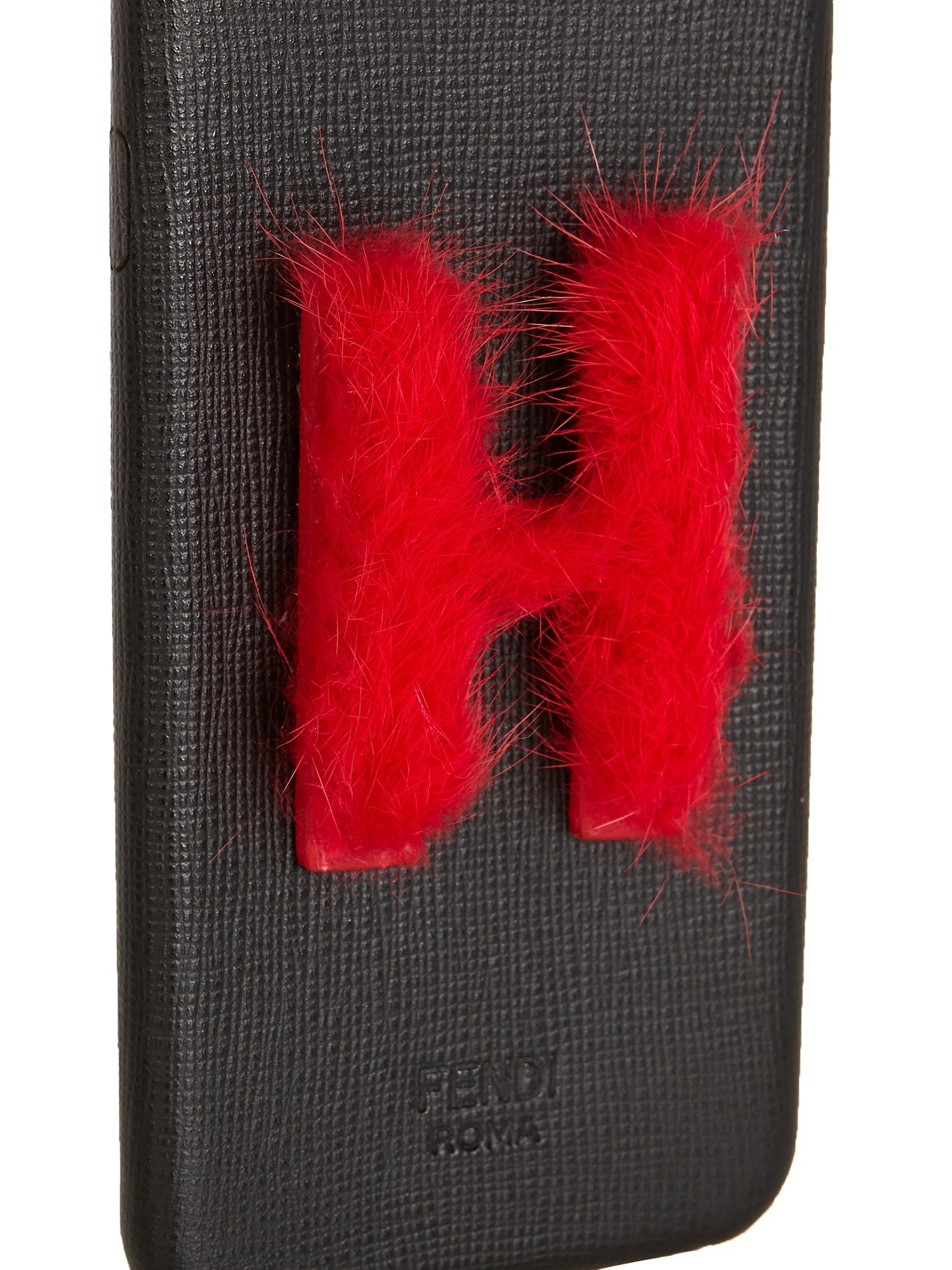 【SALE】H mink-fur and leather iPhone6 case