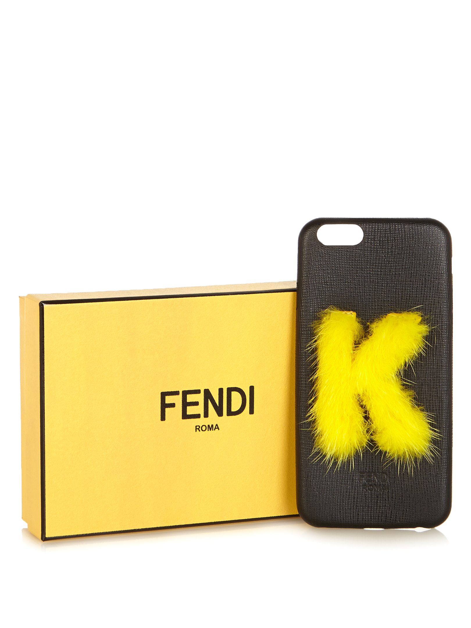 【SALE】K mink-fur and leather iPhone6 case