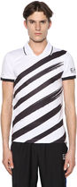 EMPORIO ARMANI(エンポリオアルマーニ) ポロシャツ EA7○最新作 至高 プリント ロゴ ナイロン TENNIS Tシャツ