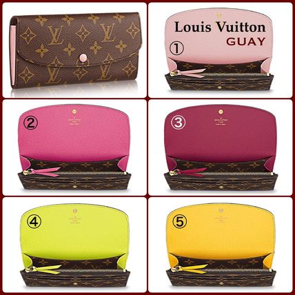 popular Louis Vuitton long wallet emilie Monogram