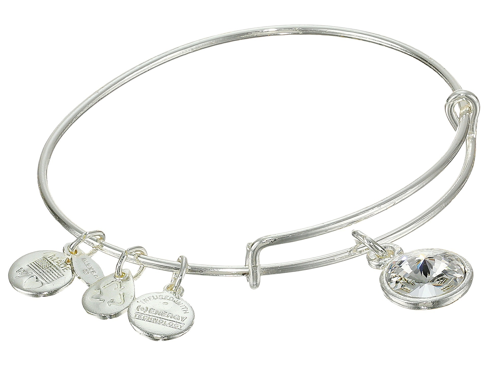 【大人気】April Birthstone Charm Bangle バングル
