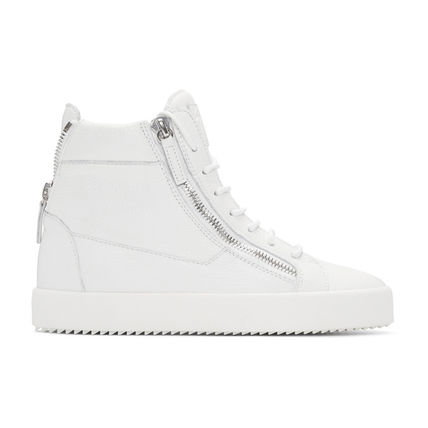 Giuseppe Zanotti white London high-top sneaker