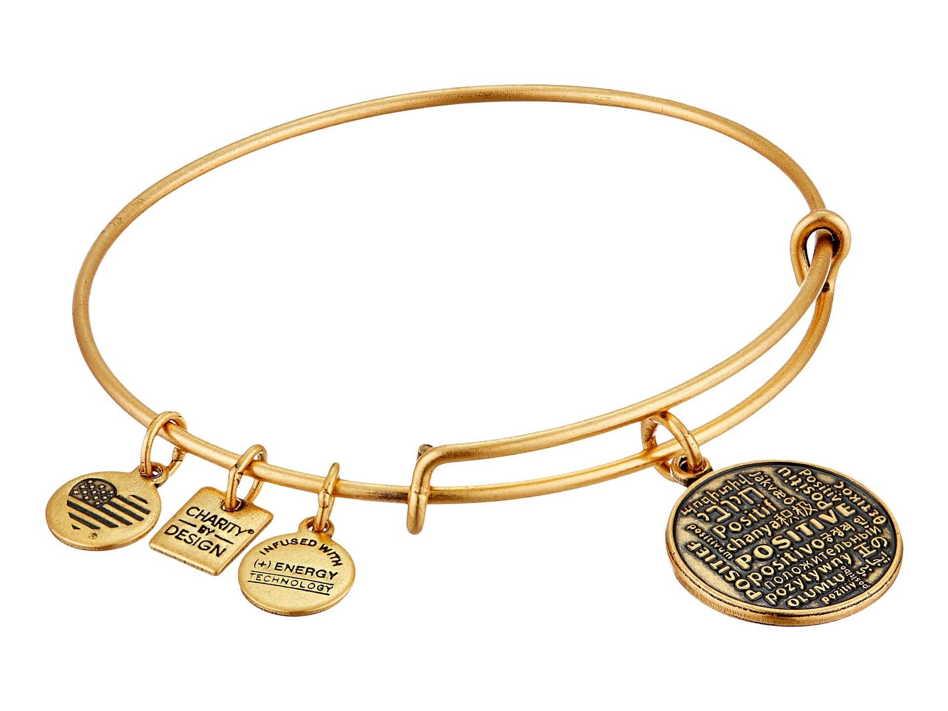 【大人気】Positive Is How I Live Charm Bangle バングル