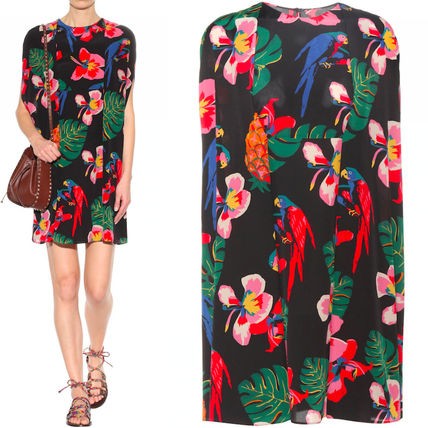 17th SS V627 'TROPICAL DREAM' PRINT SILK SLEEVELESS DRESS