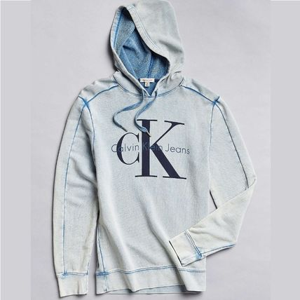 Calvin Klein CK logo with Hoody Acid Wash