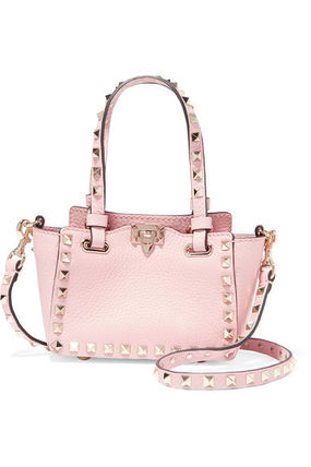 VALENTINO★The Rockstud micro textured-leather shoulder bag