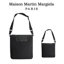 Maison Margiela(メゾン マルジェラ) ショルダーバッグ MAISON MARGIELA Large Messenger Bag in Canvas and Leather