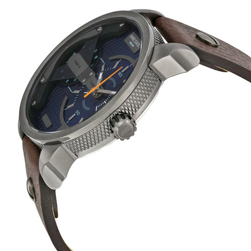 ★安心ヤマト便★DIESEL Mini Daddy Blue Textured Dial DZ7339