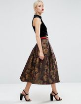 ASOS(エイソス) スカート 送料・関税込み!ASOS Floral Midi Prom Skirt with Co スカート