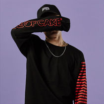 Tシャツ・カットソー A PIECE OF CAKE★正規品★Stripe Long Sleeve T-shirts_Red