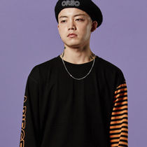 Tシャツ・カットソー A PIECE OF CAKE★正規品★Stripe Long Sleeve T-shirts_Orange