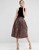 ASOS(エイソス) スカート 送料・関税込み!ASOS Prom Skirt in Leopard Print wi スカート