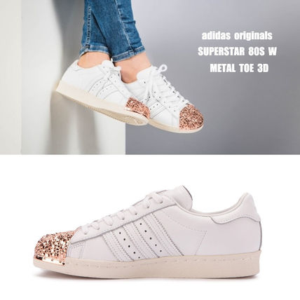 adidas スニーカー adidas★SUPERSTAR 80S W★METAL TOE 3D★メタル・グリッター白