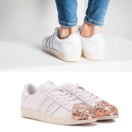 adidas スニーカー adidas★SUPERSTAR 80S W★METAL TOE 3D★メタル・グリッター白(3)