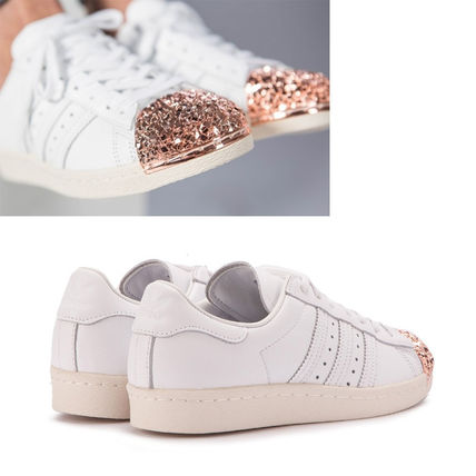 adidas スニーカー adidas★SUPERSTAR 80S W★METAL TOE 3D★メタル・グリッター白(4)