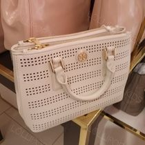 Tory Burch(トリーバーチ) ハンドバッグ セール!Tory Burch★ROBINSON PERF MICRO DOUBLE ZIP TOTE