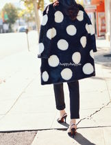【kate spade】榮倉奈々着用☆polka dot faux fur coat