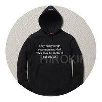 Supreme(シュプリーム) パーカー 【16AW】S-XL★Supreme They Fuck You Up Hooded Sweatshirt 黒