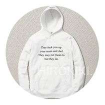 Supreme(シュプリーム) パーカー 【16AW】S-XL★Supreme They Fuck You Up Hooded Sweatshirt 白