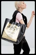 JUICY COUTURE(ジューシークチュール) マザーズバッグ JUCY COUTURE  黒 ロゴ トートバック