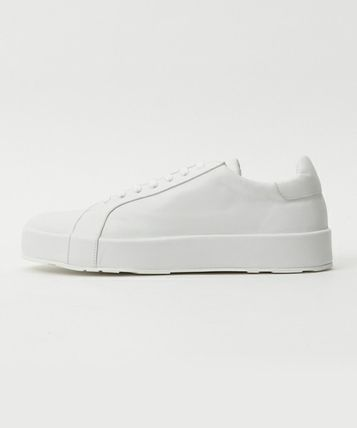 JIL SANDER LEATHER SNEAKER leather sneakers 35 white