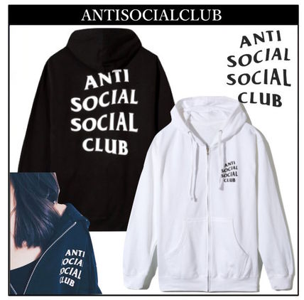 ANTI SOCIAL SOCIAL CLUB パーカー・フーディ 送料無料! ANTI SOCIAL SOCIAL CLUB LOGO ZIP UP パーカー