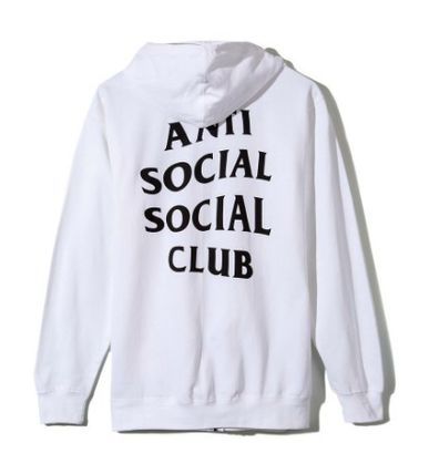 ANTI SOCIAL SOCIAL CLUB パーカー・フーディ 送料無料! ANTI SOCIAL SOCIAL CLUB LOGO ZIP UP パーカー   (8)