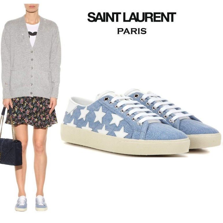 関送込【Saint Laurent】Court Classic SL/6デニムスニーカー
