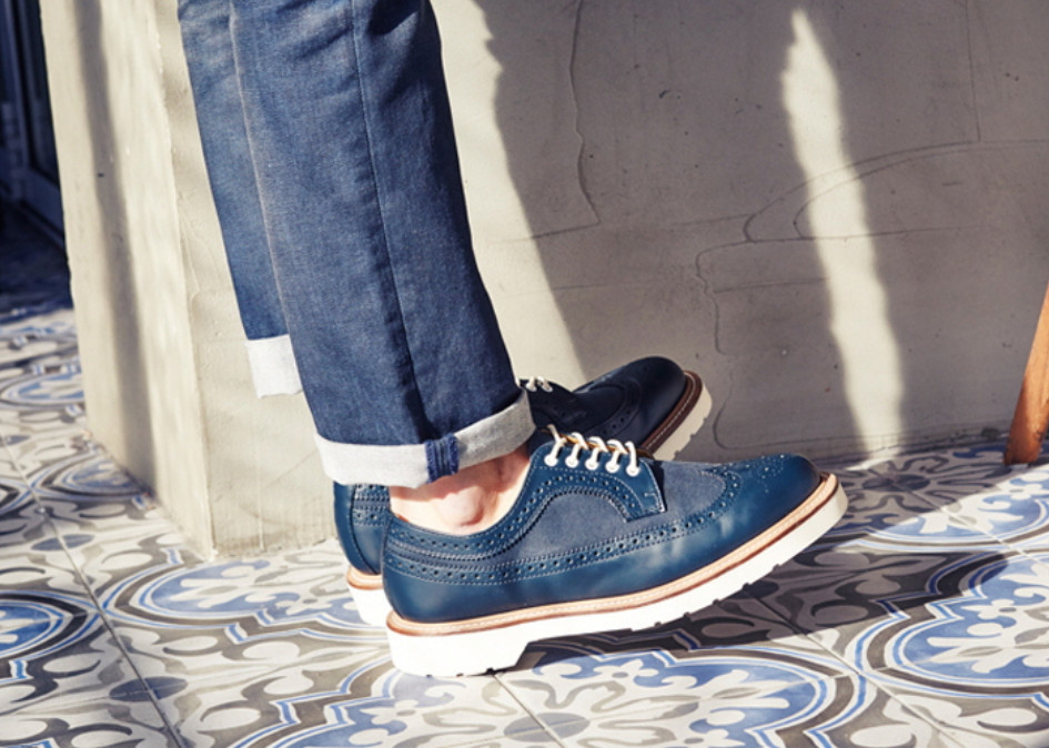 『Dr Martens正規品』WINDSOR ALFRED LACE SHOE NAVY SMOOTH